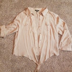 Tops - Button-up tie blouse